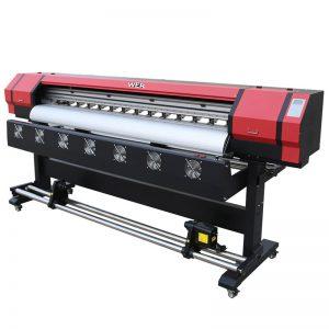 6 метри печатење Видео WER-ES1901 DX5 / DX7 глава еко растворувач принтер Во Гуангжу снабдувач