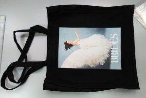 Црна примерок торба од Велика Британија клиент беше отпечатен од dtg текстилни печатач