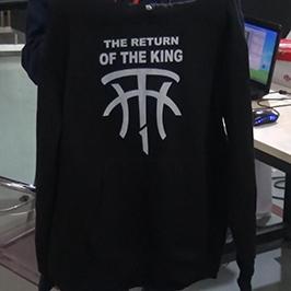 Црно-џемперско печатење примерок од А2 маичка принтер WER-D4880T
