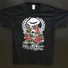 Црна маица за печатење примерок од А1 дигитален текстилен печатач WER-EP6090T