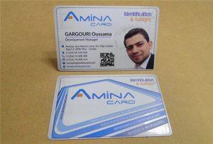 Пример за деловна картичка со примерок од принтер УВ-А2 големина WER-D4880UV
