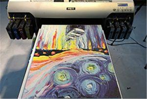 Примерок од платно од А2 УВ печатар WER-EH4880UV