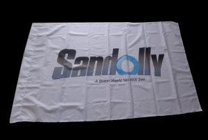 Знаме со крпа за банкноти печатено со печатач со еколошки растворувач WER-ES160 од 1,6 m (5 стапки)