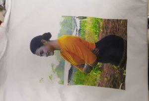 Т маици печатење примерок за Бурма клиент од WER-EP6090T печатач