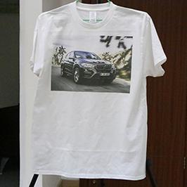 Бело маило печатење примерок од А3 маица принтер WER-E2000T 2