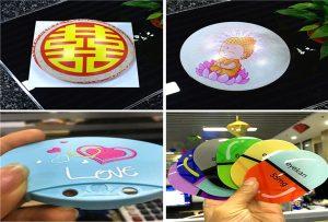 печатење примероци од пластика од А1 големина УВ печатач 6090UV